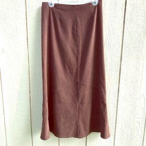 VTG White Stag brown maxi skirt size 6